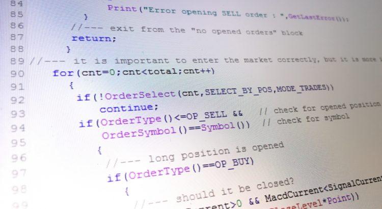 Forex Metatrader 4 EA editor