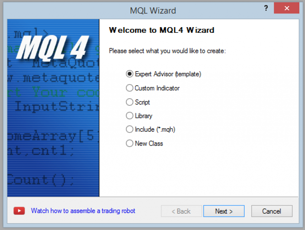 The MQL4 Wizard