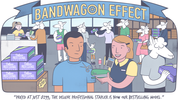 Cognitive biases - bandwagon effect