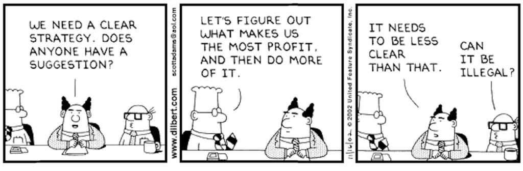 dilbert strategy testing