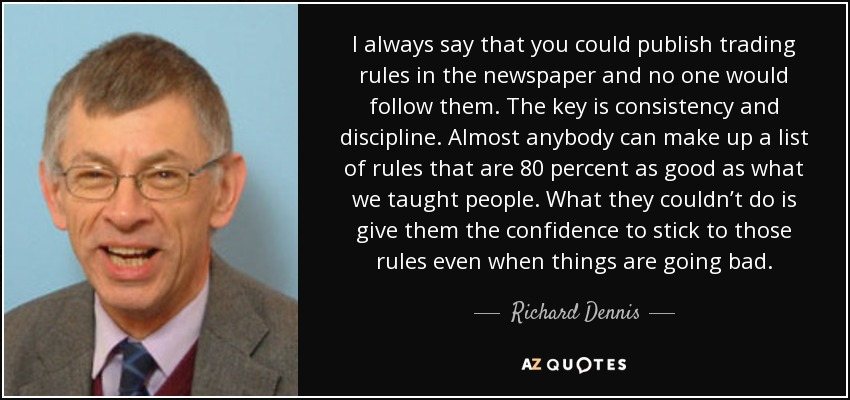Richard Dennis confidence in trading