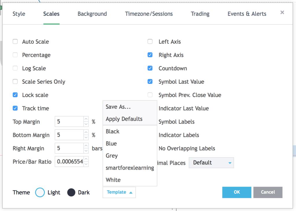 chart settings tradingview